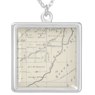 T20S R22E Tulare County Section Map Silver Plated Necklace
