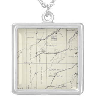 T21S R23E Tulare County Section Map Silver Plated Necklace