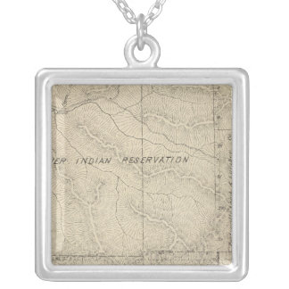 T2223S R3031E Tulare County Section Map Silver Plated Necklace