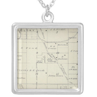 T22S R23E Tulare County Section Map Silver Plated Necklace