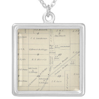T23S R23E Tulare County Section Map Silver Plated Necklace