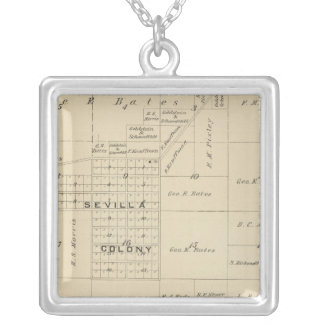 T24S R23E Tulare County Section Map Silver Plated Necklace