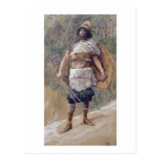 T30121 An Old Testament Warrior (w/c on paper) Postcard