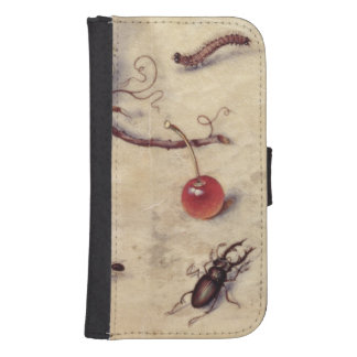 T31566 A Study of Various Insects Fruit and Anima Galaxy S4 Wallet Cases