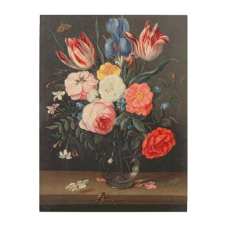 T32511 Still Life of Flowers in a Vase, 1661 (see Wood Print
