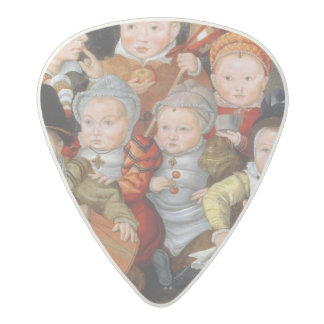 T33337 Portrait of a mother with her eight childre Acetal Guitar Pick