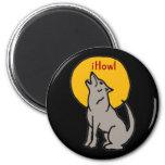T5- iHowl Wolf Design 6 Cm Round Magnet