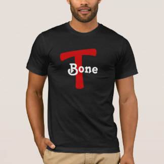 T Bone T-Bone RED MARK DESIGN T-Shirt NICKNAME