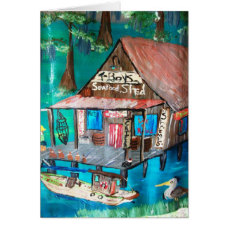 T-BOY'S SEAFOOD SHACK GREETING CARD