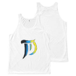 T.D. Arts Logo Uni-sex Sleeveless All-Over Print Singlet