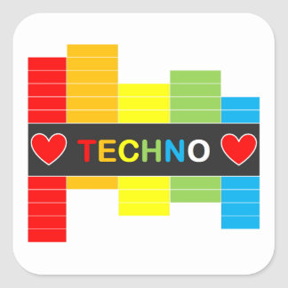 :: T E C H N O :: Sticker - Rainbow