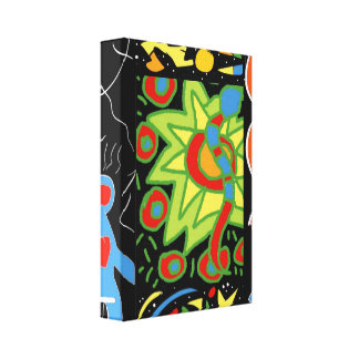 T funky canvas print
