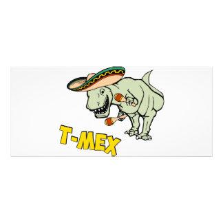 T-Mex T-Rex Mexican Tyrannosaurus Dinosaur Rack Card Design
