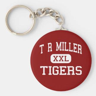 T R Miller - Tigers - High - Brewton Alabama Basic Round Button Key Ring