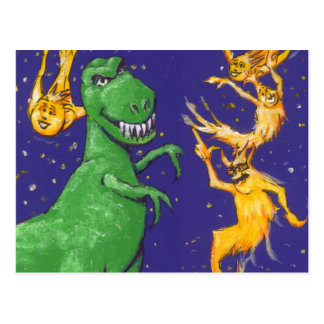 T-Rex and Comets Postcard