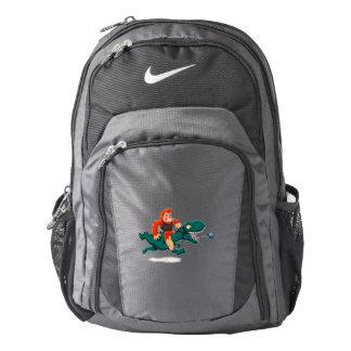 T rex bigfoot-cartoon t rex-cartoon bigfoot backpack