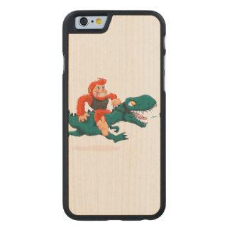 T rex bigfoot-cartoon t rex-cartoon bigfoot carved maple iPhone 6 case