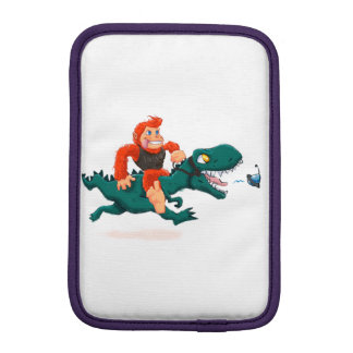 T rex bigfoot-cartoon t rex-cartoon bigfoot iPad mini sleeve