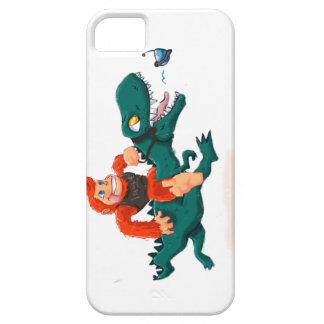 T rex bigfoot-cartoon t rex-cartoon bigfoot iPhone 5 case