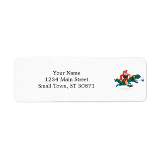 T rex bigfoot-cartoon t rex-cartoon bigfoot return address label