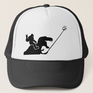 T-rex & bigfoot selfie trucker hat