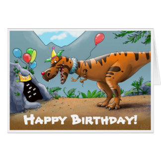 T-Rex Birtday Card
