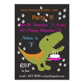 T-rex Birthday Party Invitation
