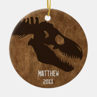 T-Rex Bones Personalized Ornament