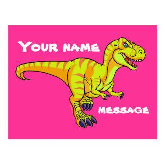 T-Rex cartoon Postcard