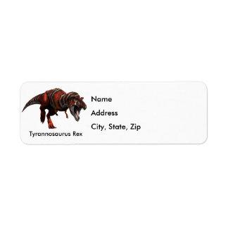 T-Rex Charge Return Address Label
