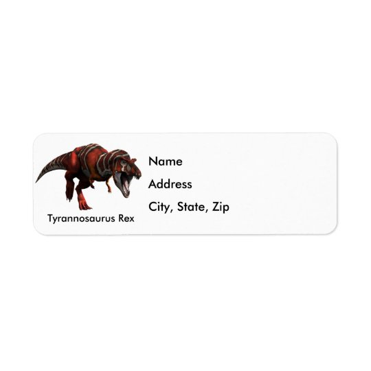 T-Rex Charge Return Address Label