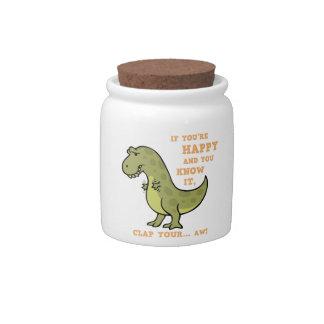 T-Rex Clap II Candy Dish