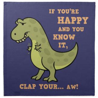 T-Rex Clap II Cloth Napkins