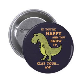 T-Rex Clap II Pinback Buttons