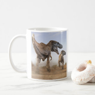 T rex digital art coffee mug