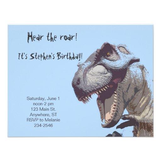 T-Rex Dinosaur Birthday Invitation