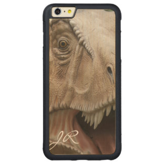 T Rex Dinosaur Carved Maple iPhone 6 Plus Bumper Case