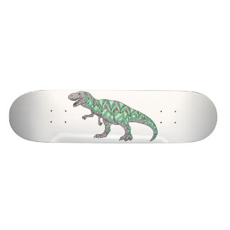 T-Rex Dinosaur Doodle Illustrated Art Skateboards