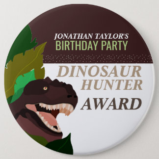 T Rex Dinosaur Party Children's Birthday 6 Cm Round Badge