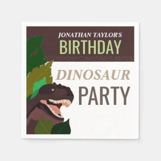T Rex Dinosaur Party Children's Birthday Disposable Serviette