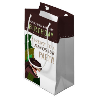 T Rex Dinosaur Party Children's Birthday Small Gift Bag