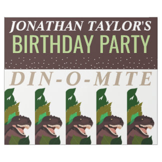 T Rex Dinosaur Party Children's Birthday Wrapping Paper