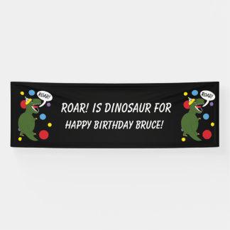 T-Rex Dinosaur Personalize Kids Birthday Party Banner