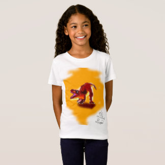 T-Rex dinosaur puppy Girls T-shirt