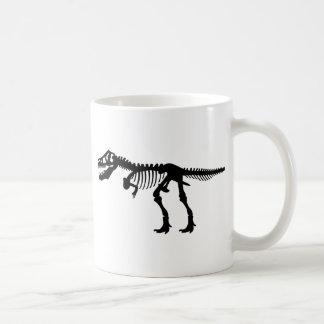 T Rex Dinosaur Skeleton Basic White Mug