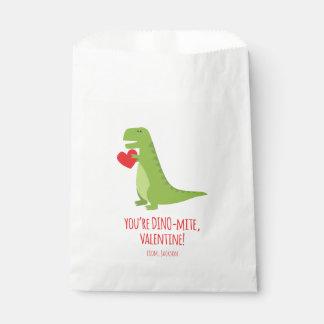 T-Rex Dinosaur Valentine Favor Bags