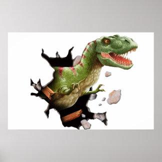 T Rex Dinosaur Wall Mural Poster Kids Room