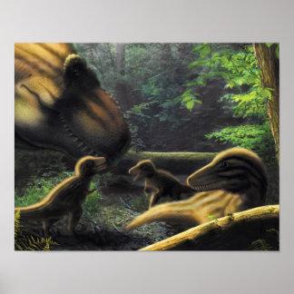 T.rex family poster