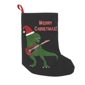 T-Rex Guitar Christmas Small Christmas Stocking