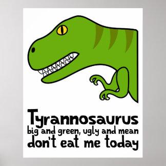 T-Rex Haiku Poster